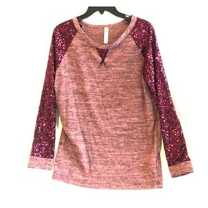 Maroon sequin sweater